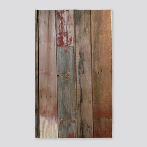 rustic western barn wood Area Rug