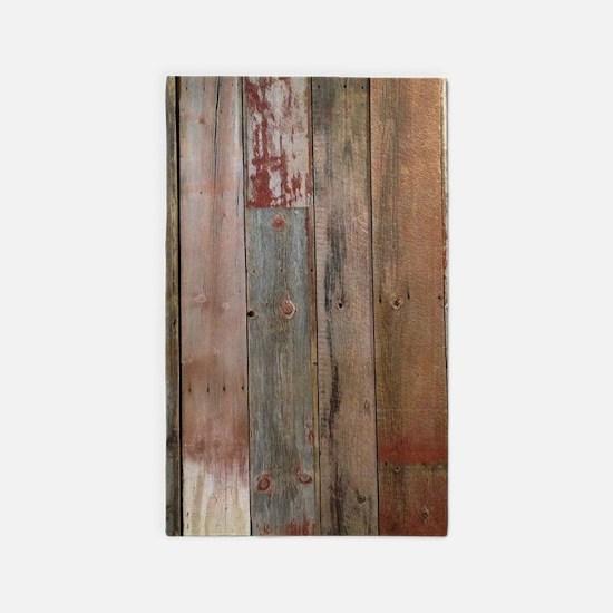 rustic western barn wood Area Rug