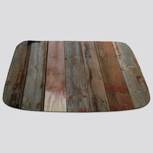 rustic western barn wood Bathmat