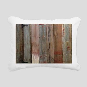 rustic western barn wood Rectangular Canvas Pillow