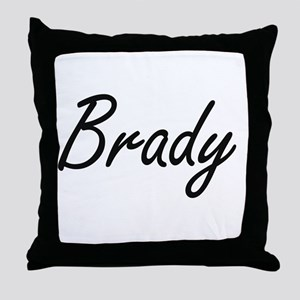 Brady surname artistic design Throw Pillow
