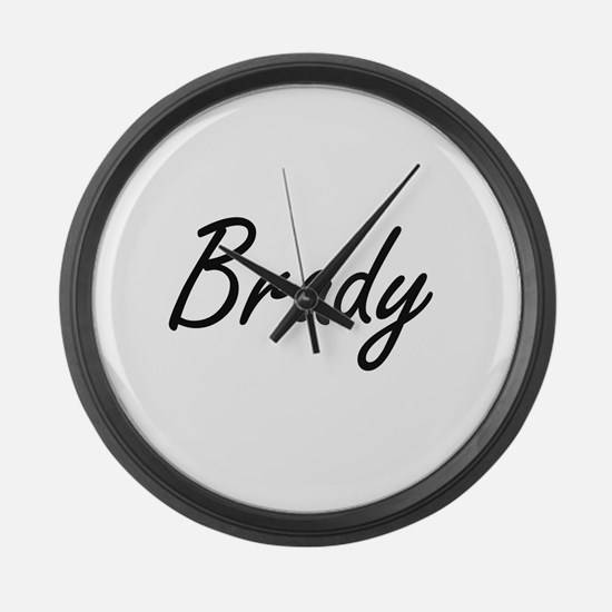 Brady surname artistic design Large Wall Clock