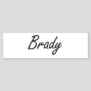 Brady surname artistic design Bumper Sticker