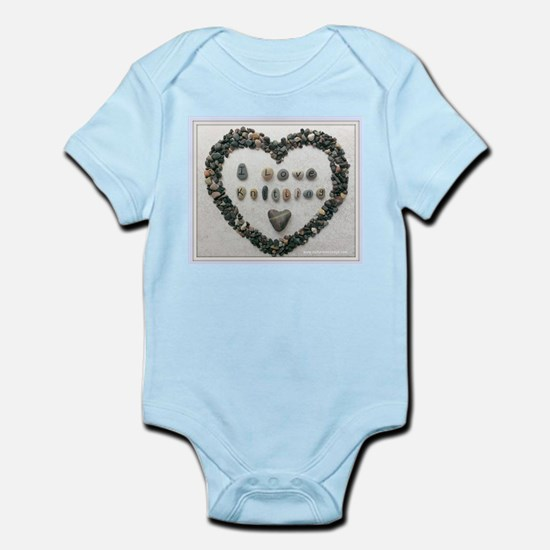 I Love Knitting with Heart Body Suit
