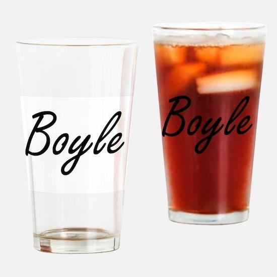 Boyle surname artistic design Drinking Glass