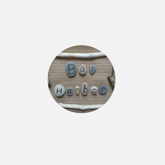 Bar Harbor - Beach Stones - Driftwood Mini Button