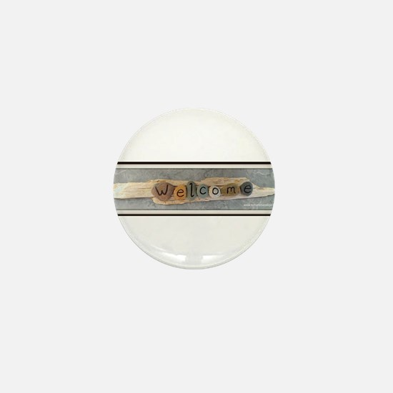 Welcome on Driftwood Mini Button