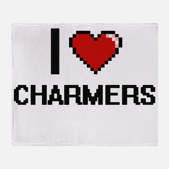 I love Charmers Digitial Design Throw Blanket