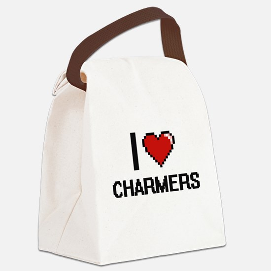 I love Charmers Digitial Design Canvas Lunch Bag