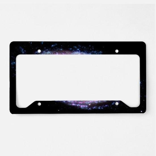 Pink Spiral Galaxy License Plate Holder