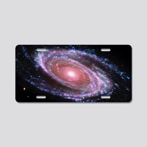 Pink Spiral Galaxy Aluminum License Plate
