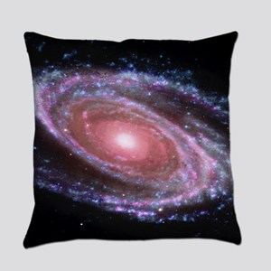 Pink Spiral Galaxy Everyday Pillow