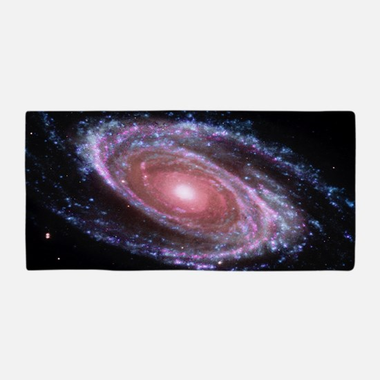 Pink Spiral Galaxy Beach Towel