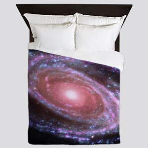 Pink Spiral Galaxy Queen Duvet