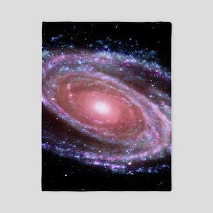 Pink Spiral Galaxy Twin Duvet