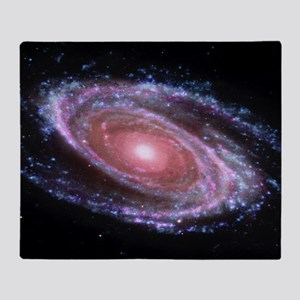 Pink Spiral Galaxy Throw Blanket