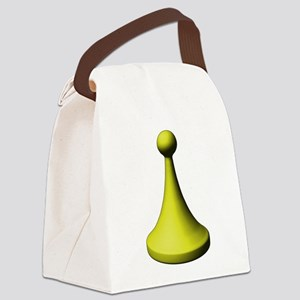 Yellow Pawn Canvas Lunch Bag