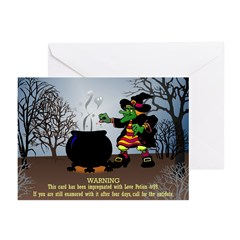 Halloween Cards - Love Potion #99 (Pk of 20)