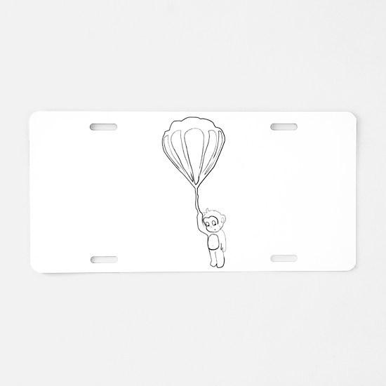 Unique Hot air ballooning Aluminum License Plate