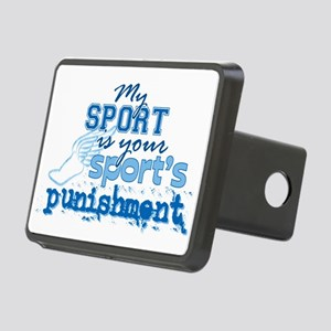 Sport Punishment Blue Rectangular Hitch Cover