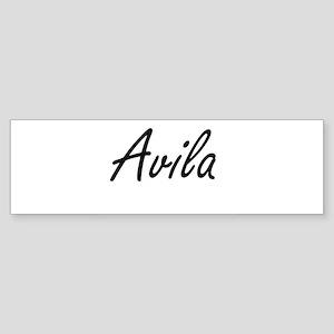 Avila surname artistic design Bumper Sticker
