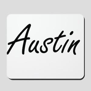 Austin surname artistic design Mousepad