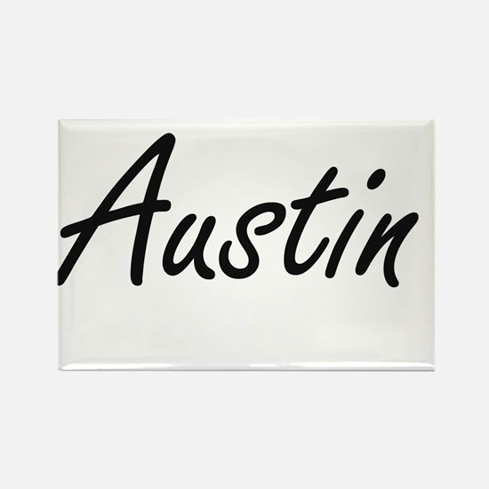 Austin surname artistic design Magnets
