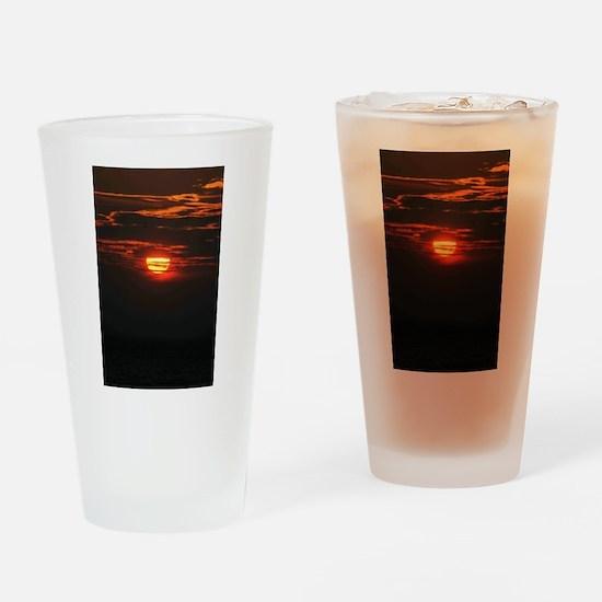 Wonderful Sunset Drinking Glass