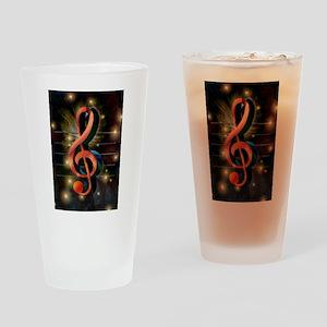 Clef Drinking Glass