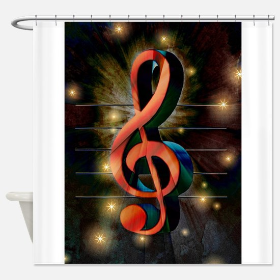 Clef Shower Curtain