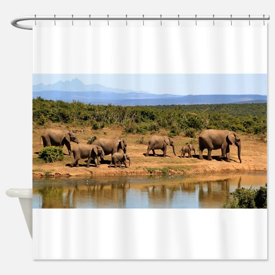 Wild Elephant Shower Curtain