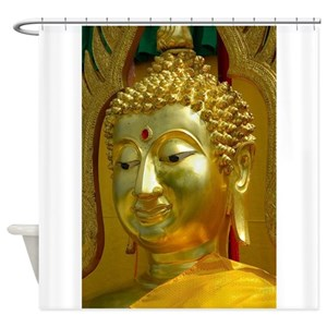 Buddha Faces Shower Curtains