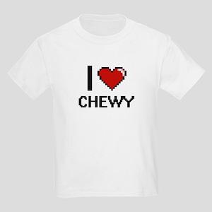 I love Chewy Digitial Design T-Shirt