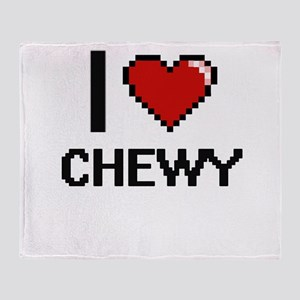 I love Chewy Digitial Design Throw Blanket