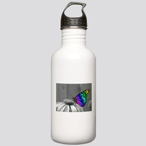 Flower with Butterfly Stainless Water Bottle 1.0L