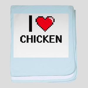 I love Chicken Digitial Design baby blanket