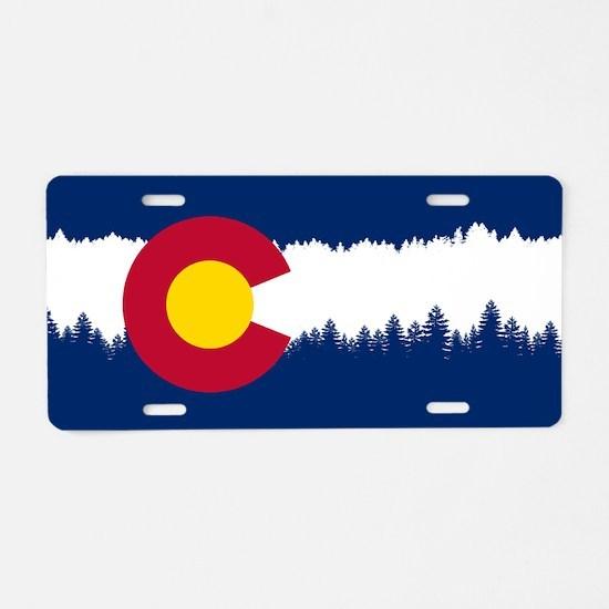 Funny Colorado flag Aluminum License Plate