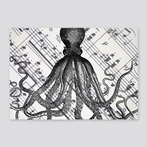vintage nautical steampunk octopus 5'x7'Area Rug
