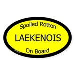 Spoiled Laekenois On Board Oval Sticker