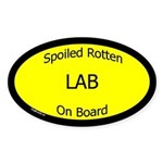 Spoiled Lab On Board Oval Sticker