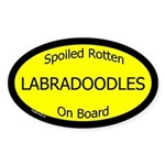 Spoiled Labradoodles On Board Oval Sticker