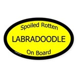 Spoiled Labradoodle On Board Oval Sticker