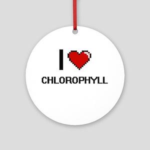 I love Chlorophyll Digitial Desig Ornament (Round)
