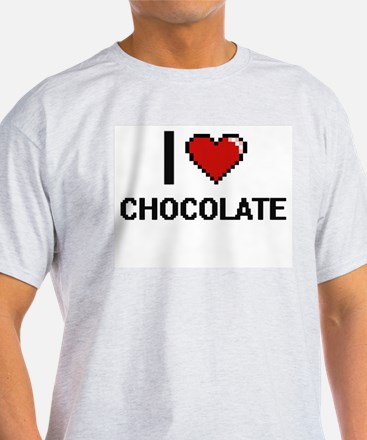 I love Chocolate Digitial Design T-Shirt