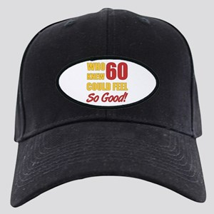 Fun 60th Birthday Black Cap