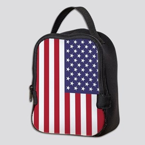 USA flag - Authentic high quali Neoprene Lunch Bag