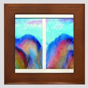 Colorful landscape art Framed Tile