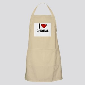I love Choral Digitial Design Apron