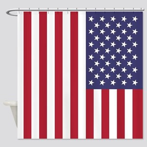 USA flag - Authentic high quality v Shower Curtain