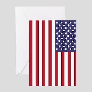 USA flag - Authentic high quality v Greeting Cards